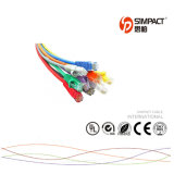 CE/RoHS/UL24 cabo da correção de programa Calibre de diâmetro de fios UTP Cat5e