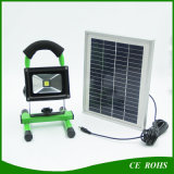 2 anni della garanzia di pesca della lampada 10W LED di indicatore luminoso di inondazione solare portatile con il comitato alimentato solare