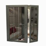 Puertas francesas interiores de aluminio satinadas templadas doble excelente de la calidad de Feelingtop (FT-D70)