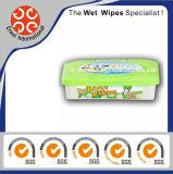 Os Wipes molhados do bebê de bambu da fibra com a caixa natural molharam Wipes