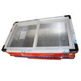 congélateur de fruits de mer de porte en verre de glissement 108L pour le supermarché