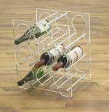 Présentoir acrylique de bruit pour des bouteilles de vin, annonçant l'étalage