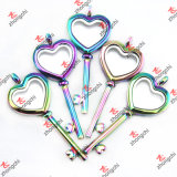 卸し売りRainbow Color RoundかHeart/Teardrop/Square Locket Pendant Necklace (RCL120)