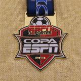 A annoncé la médaille du football du football de fini antique en métal
