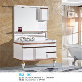 Side Cabinet를 가진 High 새로운 Quality Floor Standing PVC Bathroom Vanity