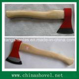 Testa di ascia del acciaio al carbonio dell'ascia con la maniglia di legno