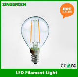 ヨーロッパHot Sell G45 E14 2W LED Filament Ball Bulb