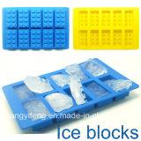 おもちゃのブロックによって形づけられるシリコーンの角氷の皿型