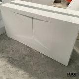 Fregaderos de mármol blancos de la cabina de cuarto de baño con el tazón de fuente de lavado (B1608014)