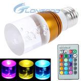 E27 3W RGB Kristalllicht des blitz-LED mit Fernsteuerungs