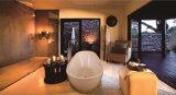 Bañera de piedra compuesta oval derecha libre del tazón de fuente para la venta