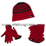 Paño grueso y suave 3PCS Set, Hat, Glove, Snood, Warm Set, Winter Set