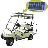 Chariot de golf de panneau solaire avec le stand 2seat blanc de caddie