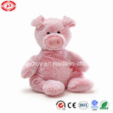 Jouet se reposant mou de cadeau de bébé de porc rose de peluche avec des talons