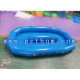 Giochi gonfiabili esterni dell'acqua, piscina gonfiabile in profondità blu della tela incatramata del PVC di 0.9mm