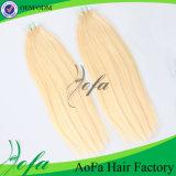 extensión humana brasileña recta rubia del pelo de la cinta de 16/20/24inch Remy