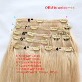 Clip in Hair Extension Peruvian 100% Unprocessed 16inch 20 Clips 10PCS Clip in Hair Extension