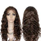 """24 """" perruques chinoises crépues bouclées/de corps onde de cheveu de lacet de la perruque #4 de cheveu"""