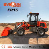 1.5ton Articulated Farm Machine Everun Er15 Cargador de pala pequeña