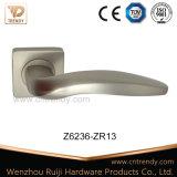Ручка рукоятки двери цвета никеля сатинировки на квадратном Rose (Z6042-ZR09)