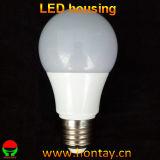 Taza ligera del dispositivo de iluminación de bulbo de lámpara A60 LED LED