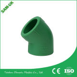Tubos plásticos para la te del estándar de ISO de la agua caliente y fría PPR que reduce la instalación de tuberías material de la plomería PPR de la te