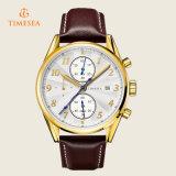 De 24-uren van de Datum van de Mensen van de luxe Analoog Horloge 72220 Bedrijfs Echt van het Leer