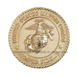 Покрынный золотом выдвиженческий медальон монетки