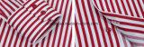 Schwarzweiss-Streifen-Hemd mit Tasten-unten Muffe