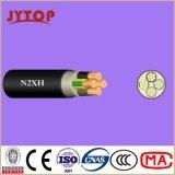 Кабель напряжения тока N2xsh средств, изоляция XLPE, кабель оболочки PVC медный