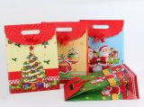 L'impression Christmas Gift Bag/Paper Bag avec Meurent-Cut Handle