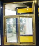 Puertas deslizantes de aluminio ocultadas pistas triples modificadas para requisitos particulares y Windows de los rodillos