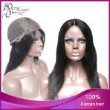 Peruca reta da parte dianteira do laço do cabelo do Virgin do brasileiro da venda por atacado 100%