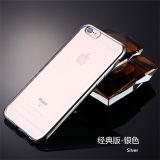 случай телефона iPhone 7/6/6plus прозрачный с гальванизировать