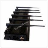 Emittente di disturbo portatile professionale del telefono delle cellule con il buon sistema di raffreddamento - professionista che ostruisce il segnale di GPS L2 GPS L1 di telecomando del telefono 2g 3G 4G 5g 2.4G delle cellule