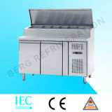 Refrigerador comercial da preparação do sanduíche do restaurante do aço inoxidável