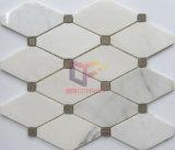 クリーム色ベージュ純形の石の大理石のモザイク(CFS1088)