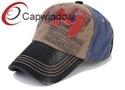 若者達のための刺繍が付いている方法野球のApertured帽子