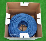 azul puro do cabo da rede Ethernet do cobre Cat5e de 4-Pair 24AWG UTP