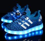 La última luz del flash del estudiante del OEM calza los zapatos de los niños LED (FF824-3)