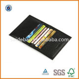 6 Slots를 가진 높은 Quality Leather Name Card Holder