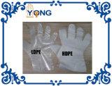 Guante plástico disponible del LDPE del guante