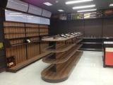 Mensola di legno del metallo del supermercato