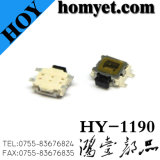 Fabricante SMD Type Tact Switch com 3 * 3.5mm Heavy Plate 4pin