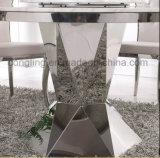 Tabella pranzante di marmo bianca superiore di disegni moderni da vendere