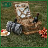 Милая квадратная Wicker корзина пикника для 2 людей