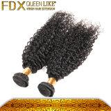 最もよい品質のブラジルのバージンの人間の毛髪のWeftカーリーヘアーの拡張