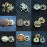 ジーンズのデニムのためのめっき型ボタン