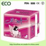 Serviettes hygiéniques de femmes avec la couverture 100% de coton de nature