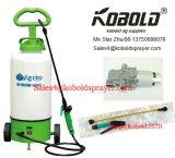 Pulvérisateur de sac à dos de batterie du matériau 6V 12L8l de HDPE de chariot, pulvérisateur de jardin